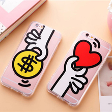 Cute Cartoon Simpson unicorn pineapple watermelon TPU + Acrylic for iPhone 5S 5 SE 6 6s Plus Clear Transparent Cover Case(China)