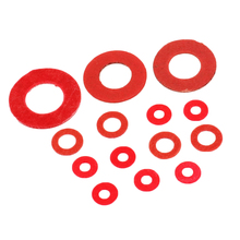 100Pcs M2 M2.5 M3 M4 M5 M6 M8 M10 M12 M16 Steel Pad Insulation Washers Red Steel Paper Meson Gasket Spacer Insulating Spacers(China)