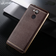 AKABEILA Cell Phone For Huawei Enjoy 6S 5.0 inch Spedu Litchi grain luxury Plating TPU Silicone Mobile Phone Case Business Cases(China)