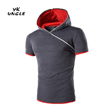 Moletom Masculino Summer Hip Hop Fashion Sport Hoodie Pullover Men Hoodies Short Sleeve Hooded Streetwear Sweatshirt ,YK UNCLE
