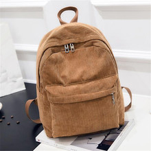 Women Backpack Solid Corduroy Backpack Simple Tote Backpack School Bags For Teenager Girls Students Shoulder Bag Travel Bag