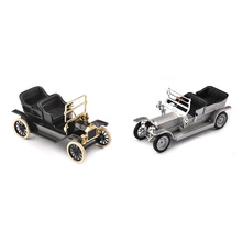 1:43 Scale Classic Diecast Car Model Silver/ Black Color 1/43 1923 Alloy Diecast Car Convertible Vehicles  Car Model Kids Toy