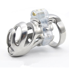 Buy Male Chastity Cage BDSM Toys Chastity Device Penis Cock Rings Stainless Steel Long Section Breathable Cage Adult Games G7-2-20