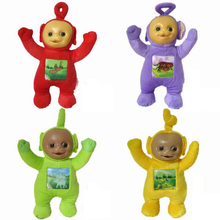 Elsadou 4pcs/lot Teletubbies Baby Cartoon Movie Plush Toys 33cm Size with 3D Face
