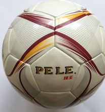 PU Laminated soccer ball size 5 men training balls red color