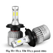 Buy 2Pcs H4 LED H7 H11 H1 H3 9005 9006 COB Auto Car Headlight 72W 8000LM High Low Beam Automobiles Lamp Xenon white 6500K Car Bulb for $13.29 in AliExpress store