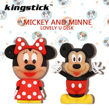 New Pen drive 8gb 16gb 32gb 64gb Pendrive Cute cartoon Minnie USB 2.0 flash drive memory lovely mickey mouse Usb disk(China)