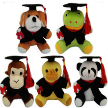 10pcs/lot free shipping 13cm Plush graduation Dr animals keychain Student Festival gifts party gifts wholesale(China)