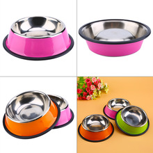 Stainless Steel Pet Puppy Cat Dog Food Bowl Drink Water Dish Feeder Drinking Bowls Cat Food Dispensers Bebedouro Para Cachorro