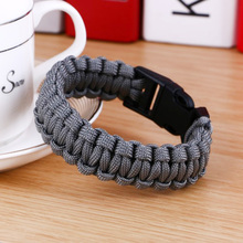 Original New Survival Paracord Bracelet For Men Outdoor Camping Hiking Buckle Wristband Women Rope Bracelet Male Jewelry(China)