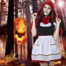Free shipping High Quality Little Red Riding Hood Costume Annie Cosplay costumes little red riding hood fantasy game uniforms(China)