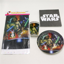 61pcs/lot Star Wars Theme Decoration Dishes Cups Kids Favors Baby Shower Tablecloth Plates Birthday Party Napkins Glass Supplies