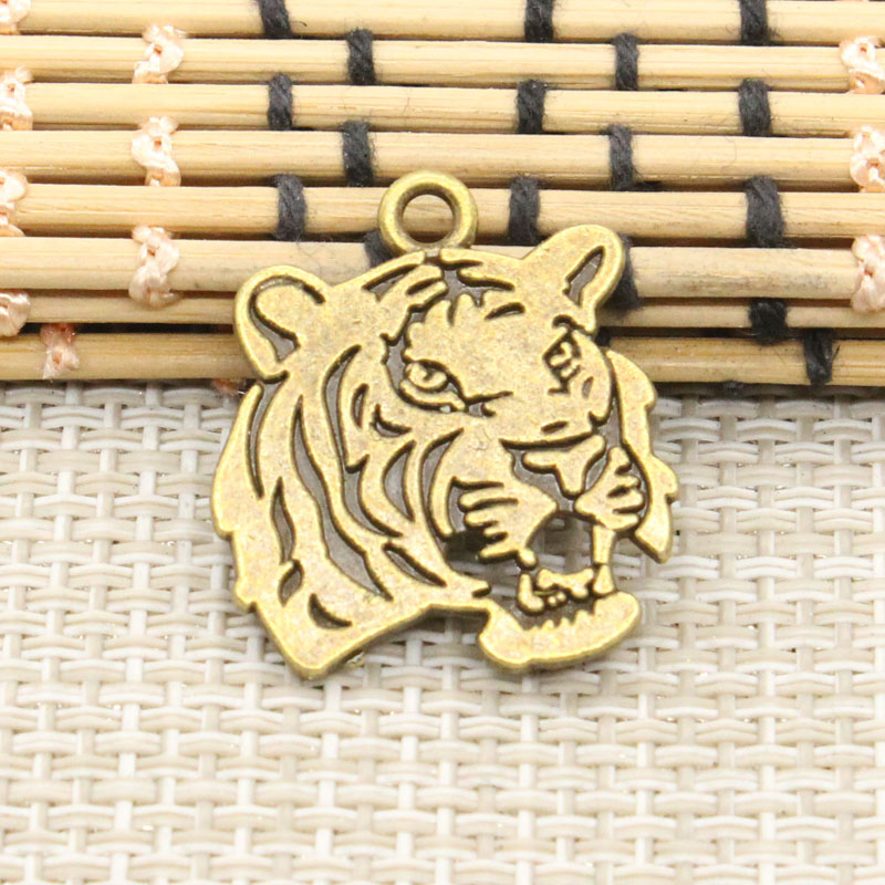 Charms Tiger 20pcs 27*24mm No.GT04363 Tibetan Bronze DIY Retro Jewelry Bracelet Necklace Antique bronze pendant