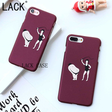 LACK For iphone6 Phone Cases Funny Small People Spanking ultra thin frosted Cute Cartoon Back Cover For iphone 6 6S Plus Fundas(China)