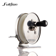 Fulljion Fishing Reels For Winter Ice Fly Fishing Rods Spinning Stainless Steel Simple Small Wheel Coil Fishing Tackle Tools(China)