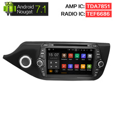 "8"" Android 7.1 Car DVD Player GPS Glonass Navigation Multimedia for Kia Ceed 2013 2014 2015 Auto RDS Radio Audio Video Stereo(China)"