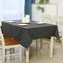 YD Tablecloth Europe Stlye Tablecloth Rectangular Table Cloth Plaid Dustproof Tablecloths Home Textile Hotel Wedding Tablecloth
