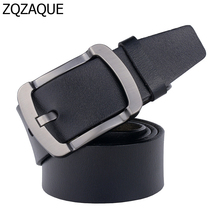 Wholesale and Retail Casual Male Jeans Waistbands Good Quality Genuine Leather Brand Belt For Men Black Brown Color Straps SY767