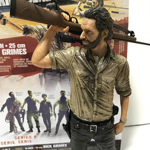 10 inch 25cm TV show walking corpse Rick Grimes, Andrew Lincoln gun model toy gift collection shipping(China)