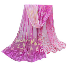 New Women scarf Printed Soft colorful Shawl Wrap Imitation Silk Wraps Scarves Fashion lady Flowers chiffon scarf best gift#35