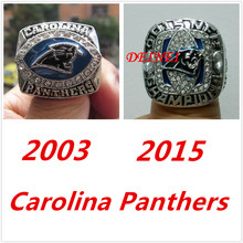 Free Shipping 2003 and 2015 Carolina Panthers Americas championship ring set,with beautiful ring(China)