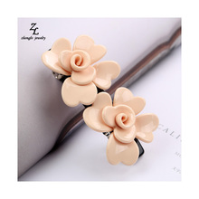 Korea Hair Cellulose Acetate Flower butterfly Hair Clips For Women Crystal Hair Accessoires Hair Bows Hairpins Barrette