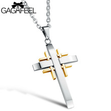 GAGAFEEL Punk Pendants Necklaces Man Women Titanium Stainless Steel Sword Male Trendy Sport Chain Handsome Bless Dropshipping