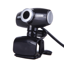 12MP HD Webcam 640x480 USB Web Cam Night Vision Video Web Camera for PC Laptop for Skype Chat Black