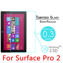 "Pro2 9H 0.3mm Toughened Tempered Glass For Microsoft Surface Pro 2 10.6"" Tablet PC Film Explosion-Proof Screen Protector Cover"
