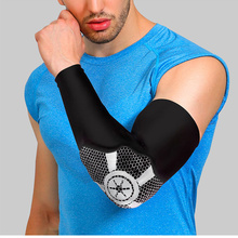 New Elbow Pads Protector Elbow Support Basketball Volleyball Brace Guard Elastic Sport Safety Arm Sleeve Warmer Pad 1Pcs A