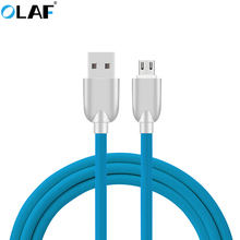 Buy OLAF Metal Plug Micro USB Cable Fast Charger Data Sync USB Cable Samsung Xiaomi Huawei HTC LG Android Mobile Phone Cables for $1.89 in AliExpress store