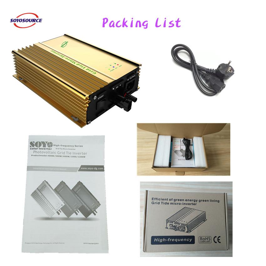 500w pakcing list