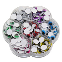 CCINEE 240PC 10mm Multicolor Doll Eyes With Eyelash Eye Activities Moving Eyeball Plastic Eye Scrapbook For Doll Toy Accessories(China)
