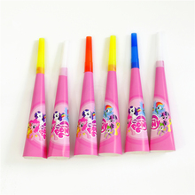 6pcs/lot Horn Trumpet My Little Pony Kids Birthday party supply event party supplies party decoration Noise Makers