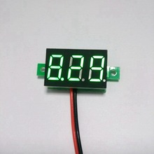DC 2.7-30V 2 wire Green LED digital Car Voltmeter dc voltage volt panel meter gauge battery monitor(China)