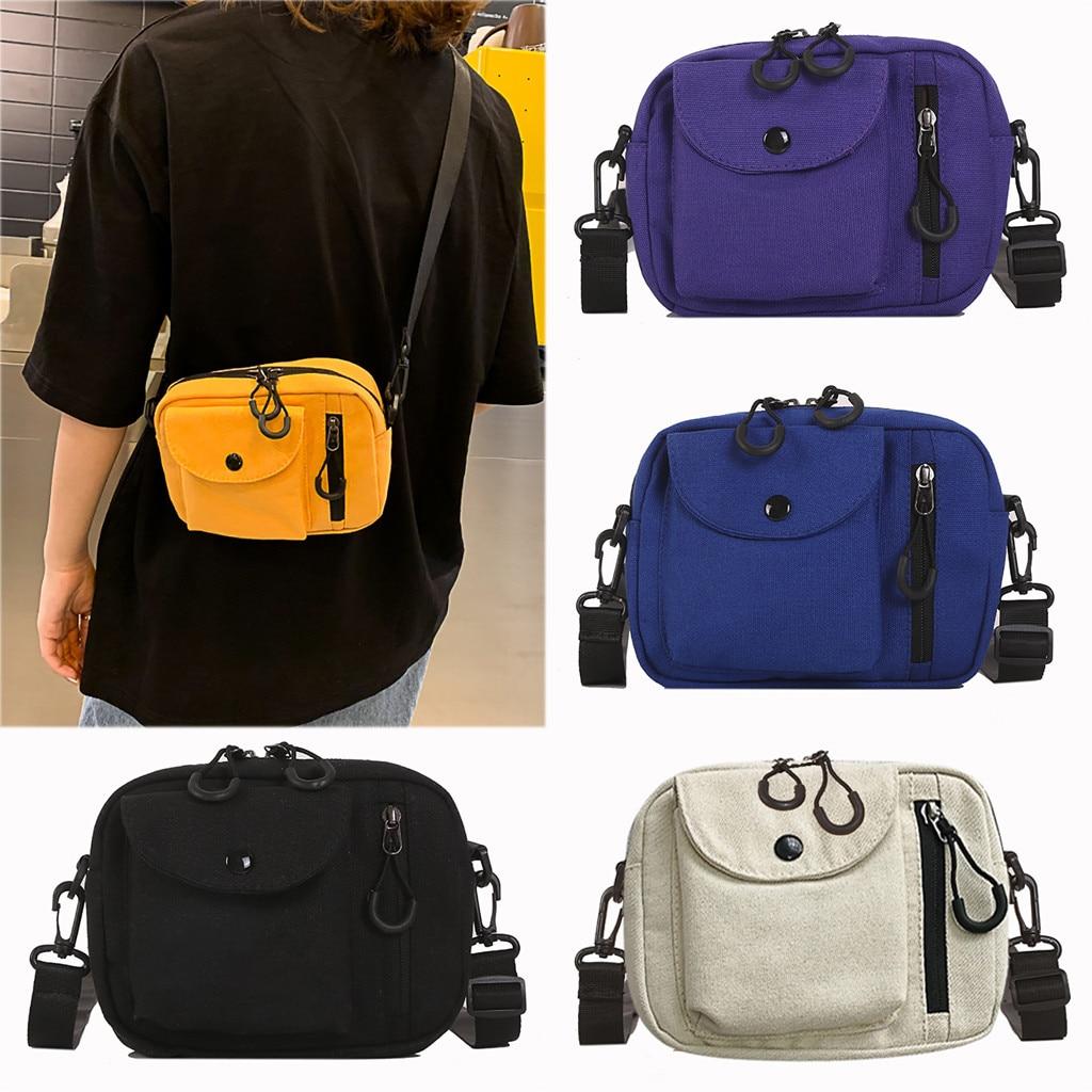 女性キャンバスジョーカーかわいいメッセンジャーバッグショルダーバッグソリッドカラー大容量の大きなバッグ小さな正方形のバッグtaschen女性#30メッセンジャーバッグ