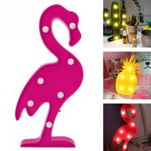 Flamingo Lamp Pineapple Table Lamp Cactus NightLight Marquee LED Night light Home Christmas Party Decor