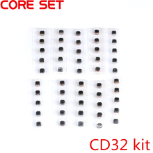 50pcs 10Values CD32 SMD Power Inductor Assortment Kit 2.2UH-220UH Chip Inductors High Quality CD32 Wire Wound Chip