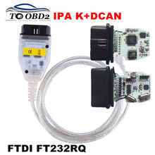 For BMW INPA FTDI FT232RQ Chip Stable OBD2 Diagnostic Interface USB Compatible K+DCAN KCAN INPA For BMW Series Free Shipping(China)