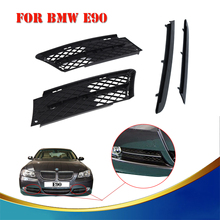 For BMW 3-Series 328 330 335 E90 E91 2006 2007 2008 Car Front Bumper Lower Grill Grille Grid Set With Trim Molding #W136