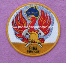 Custom 100% embroidery bird patches for FIRE SERVICES