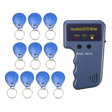 RFID 125KHz ID Card Copier Duplicator Handheld Writer Programmer Reader + 10X Tags ID Keyfobs EM4100 EM410X(China)