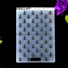 Anchor Plastic Embossing Folder For Scrapbook DIY Album Card Tool Plastic Template 10.5x15cm KW682465(China)