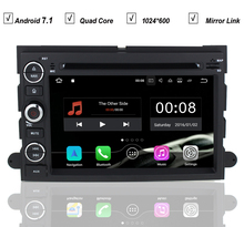 Car Android 7.1 DVD GPS Player For FORD Fusion Explorer Edge F150 F500 Escape Radio Bluetooth 2GB RAM 16GB ROM Mirror Link Wifi
