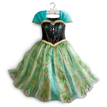 7-8Y Floral Charming Baby Girls Kids Frozen Princess Party Cosplay Costume Fancy Dress