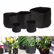 1PC Round Grow Bags 1-15 Gallon Pots Plant Bonsai Pouch Root Container Aeration Pot Container Fabric Home& Garden Hot Sale!!!(China)