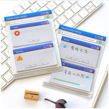 Computer System Sticky Notes Office Stationery Memo Pads Post It Kawaii Stickers Scrapbooking Diary Planner  60Sheets for School