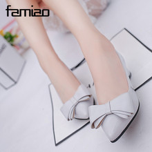 New Spring Summer Women Pumps Sweet Bowknot High-heeled Shoes Thin Pink High Heel Shoes Hollow Pointed Stiletto Elegant