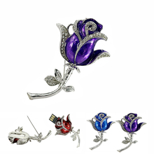 Free Shipping Diamond Rose flowers 16GB USB Flash Drive Memory storage Crystal brooch usb flash drive pen drive Fashion for gift