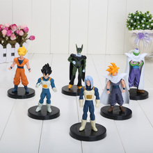 6pcs/set 4.7 inch Dragon ball Vegeta Goku Piccolo figure chidren toy Christmas gift Free Shipping(China)